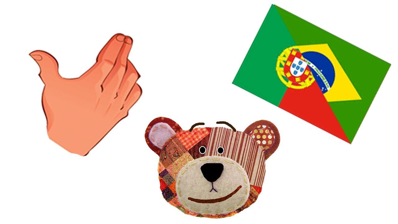 Cuerpo humano - Actividad en portugués para niños