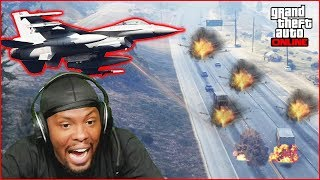 GTA Casino Heist Prep Gone Wrong! Someone Brought A Fighter Jet To A Gun Fight!