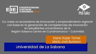 Co-creación de un ecosistema de innovación y emprendimiento - Cundinamarca Colombia.