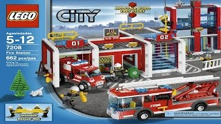 7208 LEGO Fire Station City Fire (instruction booklet)
