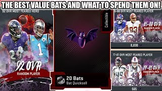 THE BEST BAT VALUE AND THE BEST WAY TO SPEND BATS! | MADDEN 20 ULTIMATE TEAM