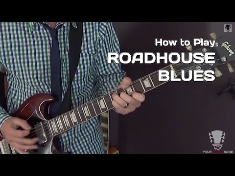 How to Play Roadhouse Blues by The Doors - Guitar Lesson