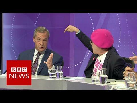 Eddie Izzard vs Nigel Farage on immigration - BBC News