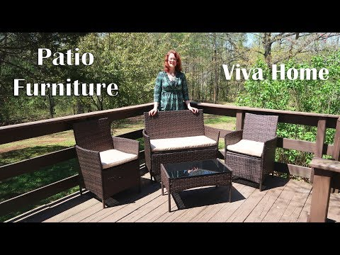 🍀Viva Home Furniture PATIO SET RATTAN WICKER (Outdoor Dining) SEATING REVIEW 👈