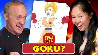 Animator Vs. Cartoonist Draw Dragon Ball Z Characters From Memory (ft. Ross Draws)