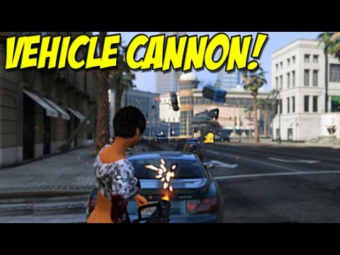 Grand Theft Auto V Mod Makes Guns Fire Cars Instead Of Bullets