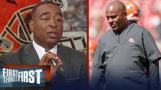Cris and Nick react to the Browns firing Hue Jackson and Todd Haley | NFL | FIRST THINGS FIRST