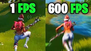 What it feels like to play in 600 FPS - Fortnite Frame rate Comparison 60 vs 144 FPS vs 240 FPS/hz