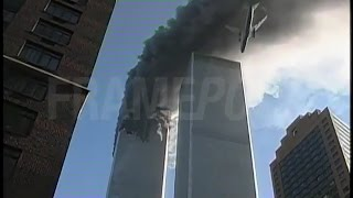 WTC 1 Burning, WTC 2 Plane Impact & Immediate Aftermath (Luc Courchesne/Framepool/Enhanced Quality)