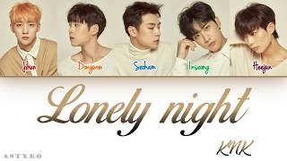 Gambar cover KNK (크나큰)- LONELY NIGHT LYRICS [HAN-ROM-ENG] COLOR CODED 가사