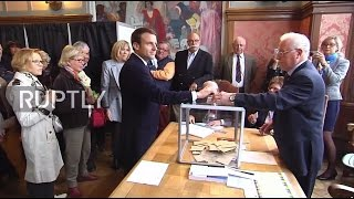 France: Macron casts vote in first round of presidential elections