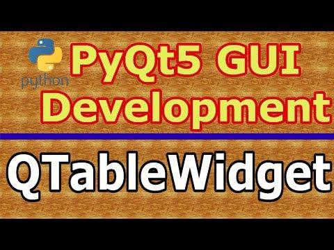 Qtablewidget Model Pyqt
