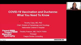 COVID-19 Vaccination & Duchenne: What You Need To Know (December 11, 2020)
