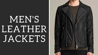 Best Mens Leather Jackets + How To Wear - Bomber, Biker, Cafe Racer