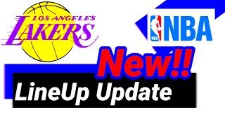 LA LAKERS New Line up | Latest Update 2020