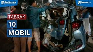 Kecelakaan Beruntun, Truk Tabrak 10 Mobil yang Antre Masuk Pom Bensin di Jalan Dewi Sartika