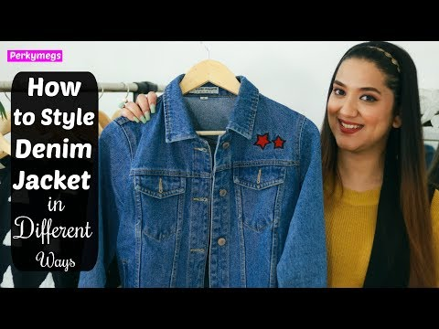 10e740417cfbfa How to style denim jacket in different ways