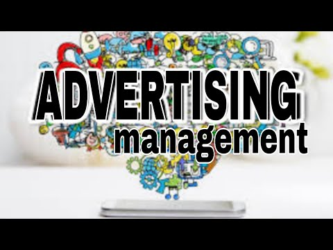 Advertising management , in hindi simple language