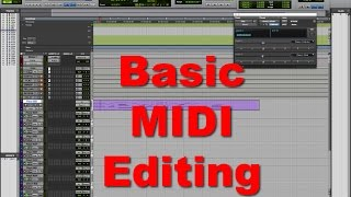 Basic Midi Editing - Tutorial