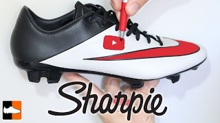 How To Customise Your Boots With A Sharpie, Soccer Cleat Customisation