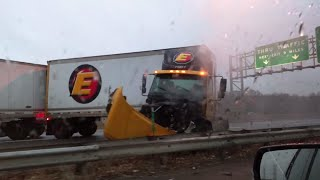 CRAZY Semi Truck CRASH on Black Ice   What's Trending Now