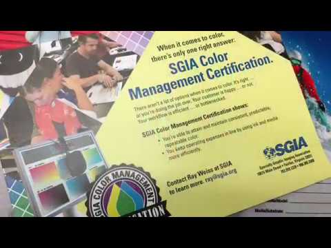 SGIA Color Management Boot Camp Promo