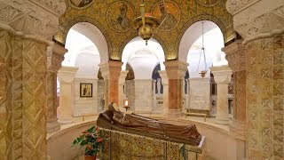 Here Virgin Mary, Mother of Jesus died  - Abbey of the Dormition Mount Zion Jerusalem Israel