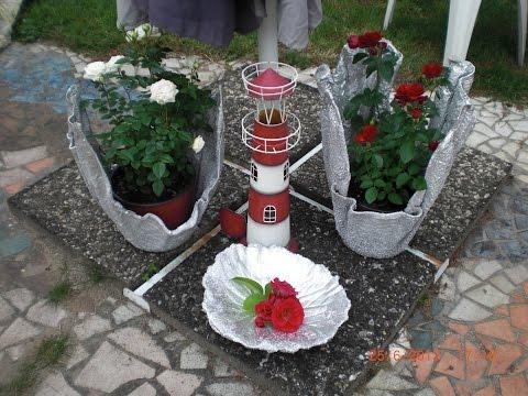 Blumentöpfe aus Zement und Handtüchern - Unikate für den eignen Garten