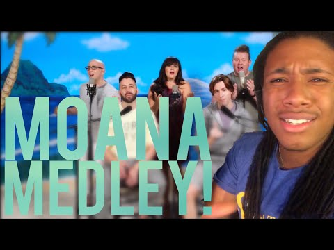 MOANA MEDLEY - VOICEPLAY FT. RACHEL POTTER | REACTION