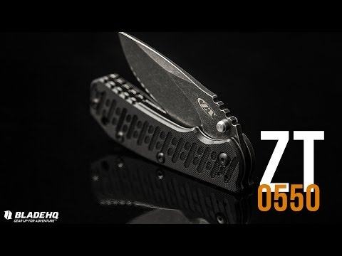 "Zero Tolerance 0550BW Knife Hinderer ZT Folder (3.5"" BlackWash) Exclusive"