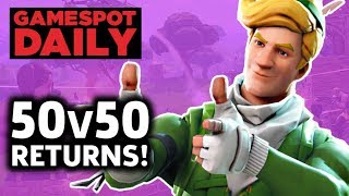 Fortnite 50v50 Is Back With A New Weapon – GameSpot Daily