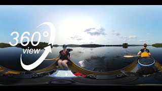 FAR NORTH ALGONQUIN CANOE TRIP - 360° VR VIDEO - DAY 5 - GLASSY CALM PADDLING ON MANITOU LAKE! (4K)