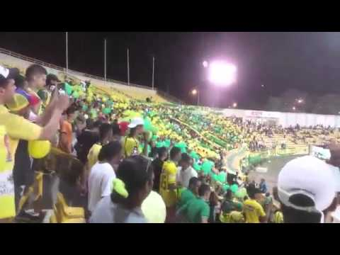 """""""Rebelion Auriverde Norte - Real Cartagena 15 de Febrero 2016"""" Barra: Rebelión Auriverde Norte • Club: Real Cartagena"""