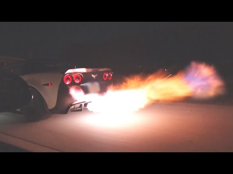 FLAMING Corvette From HELL!