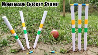 DIY Homemade Cricket Stump।। How To Make Cricket Equipments।। Indian Cricket।। Homemade Cricket