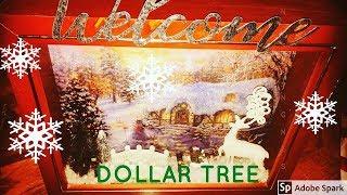 DOLLAR TREE CHRISTMAS WINDOW BOX | 2018