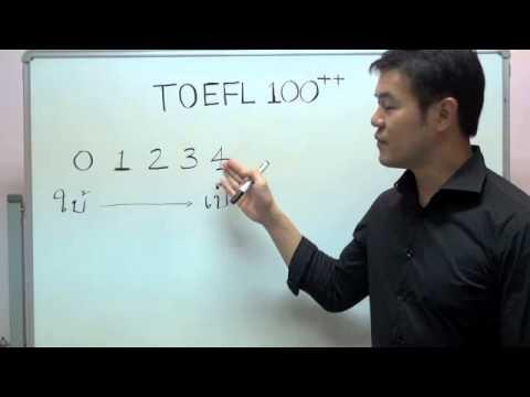 TOEFL 100++ เทคนิค การทำข้อสอบ โทเฟล ขั้นเทพ