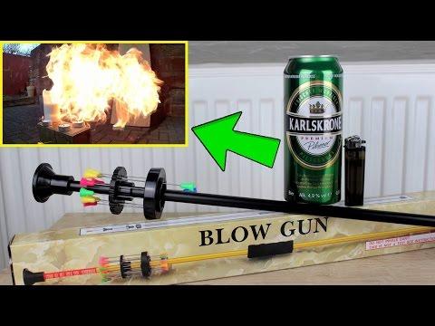 Mit 10€ Blasrohr auf Feuerzeug und Bierdose schießen [Test/Review] ✌💥
