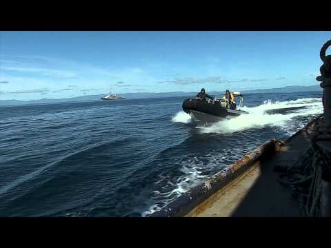 OTAGO Chases Illegal Fishing Boats with MPI Fisheries Officers