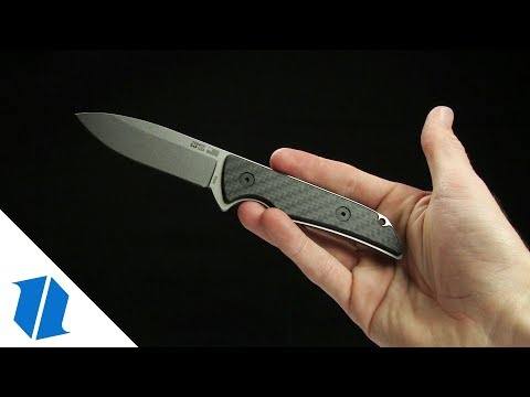 "Kershaw Premium Skyline Fixed Blade Knife Carbon Fiber (3.1"" S30V Stonewash)"
