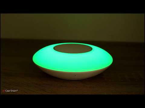 Boxa si lampa inteligenta ovala cu Bluetooth Red Sun