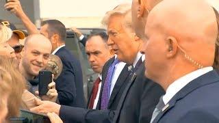 President Trump and First Lady Melania Trump arrive in Pennsylvania. Sep 11, 2018. Flight 93 Nationa