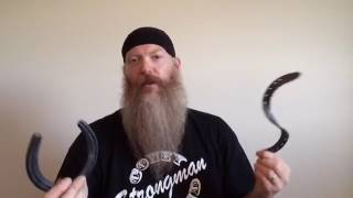 Strongman Reveals How To Bend Horseshoes!