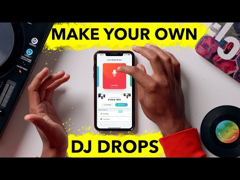 How to make DJ drops for free on your phone! - Step by Step Guide