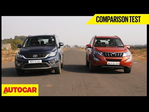 Mahindra XUV500 Vs Tata Hexa | Comparison Test | Autocar India