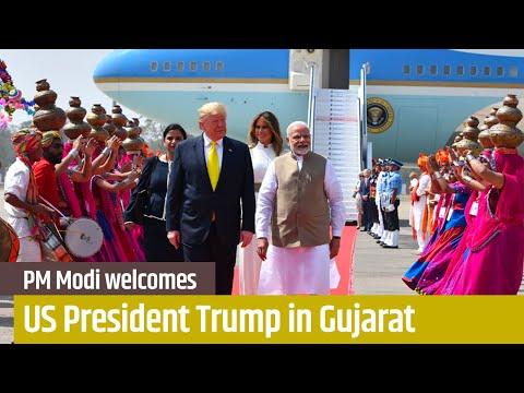 प्रधानमंत्री मोदी अहमदाबाद में अमेरिकी राष्ट्रपति ट्रम्प का स्वागत करता है, गुजरात | पीएमओ