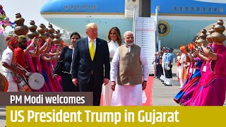 PM Modi welcomes US President Trump in Ahmedabad, Gujarat | PMO