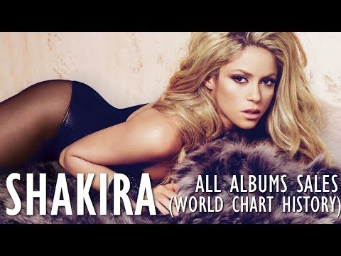 Shakira: All Albums Sales (World Chart History)1991-2017