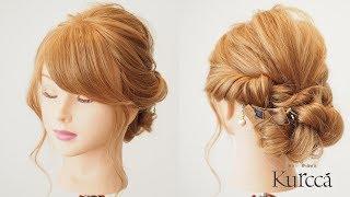 【簡単ヘアアレンジ】くるりんぱと三つ編みでできる簡単まとめ髪