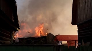Пожар на улице Березина 70 (9 сентября)